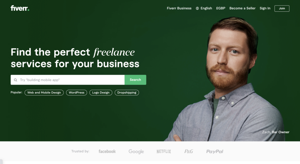 Fiverr. Find the perfect freelance services for your casino affiliate website.