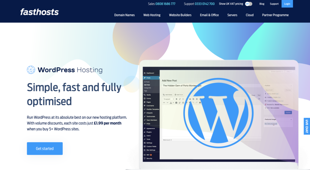 FastHosts WordPress Hosting